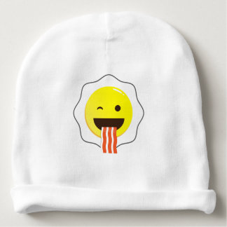 Egg and Bacon Wink Baby Beanie