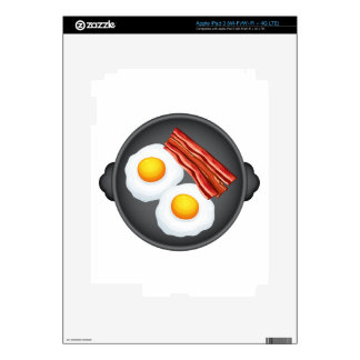 Egg and becon decal for iPad 3