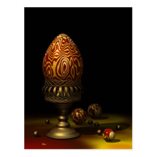 Egg and Marbles Postcard