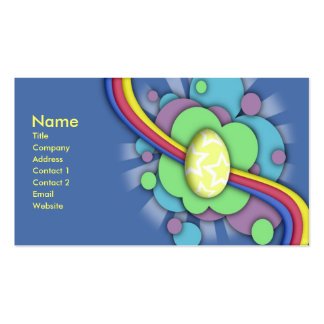 Egg and Rainbow, business card template