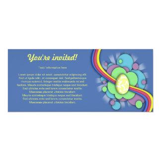 Egg and Rainbow, skinny invitation