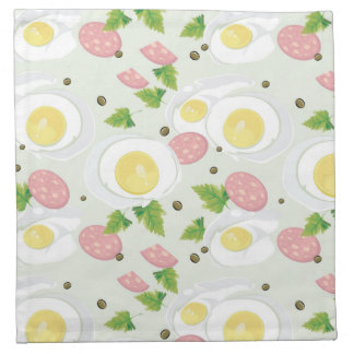 Egg and Sausage Pattern Napkin