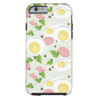 Egg and Sausage Pattern Tough iPhone 6 Case