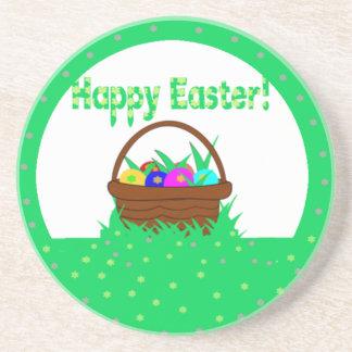 Egg basket in grass sandstone coaster