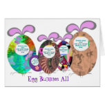 Egg Bunnies family add your photo Greeting Cards