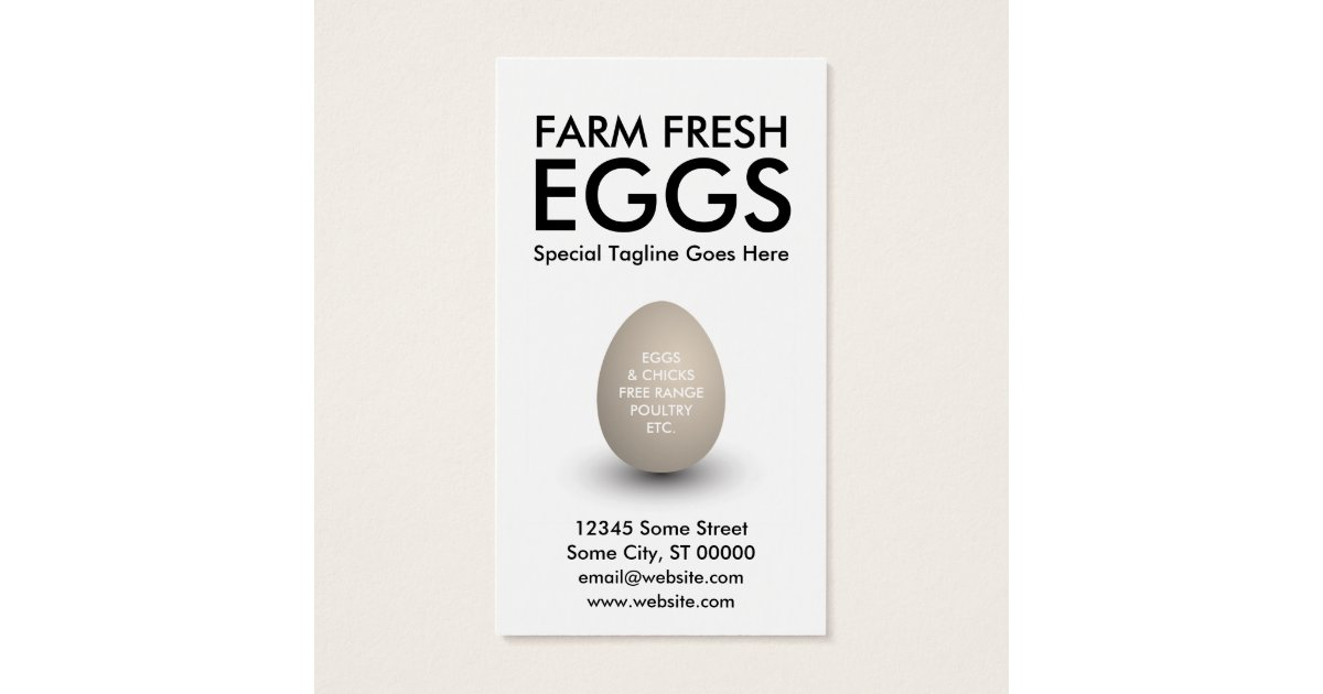 Egg Farm Business Cards & Templates | Zazzle