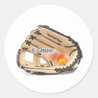 EGG Catcher Classic Round Sticker