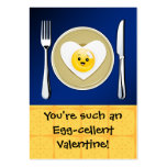 Egg-cellent Kawaii Valentine Business Card Templates