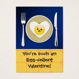 Egg-cellent Kawaii Valentine Business Card