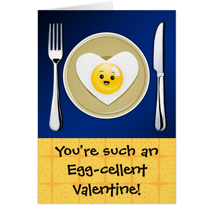 Egg-cellent Kawaii Valentine Card