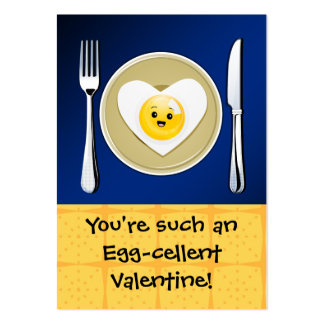 Egg-cellent Kawaii Valentine Large Business Card