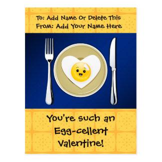 Egg-cellent Kawaii Valentine Postcard