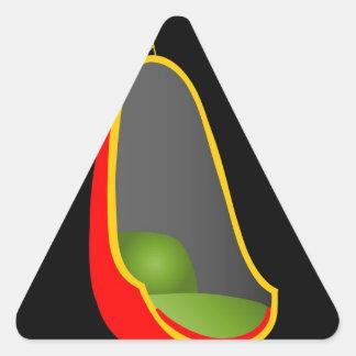 Egg chair- interior design furniture triangle sticker