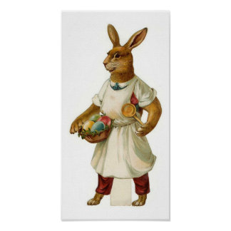 Egg Cook Easter Bunny Posters