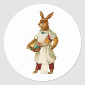 Egg Cook Vintage Easter Bunny Classic Round Sticker