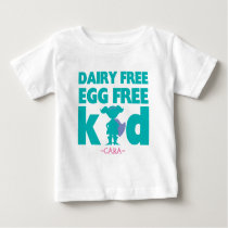Egg Dairy Free Allergy Alert Girl Superhero Shirt