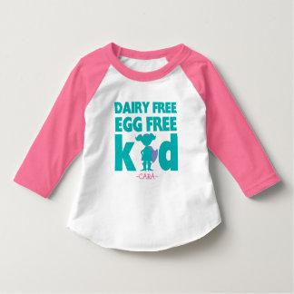 Egg Dairy Free Allergy Alert Girl Superhero Shirt