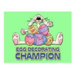Egg Decorating Champion Postcards