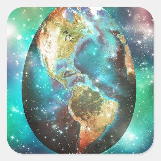 Egg Earth Square Sticker