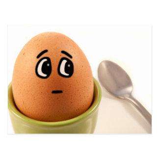 Egg emotions. postcard