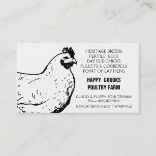Farm business cards templates zazzle egg farm black and white chicken business card colourmoves