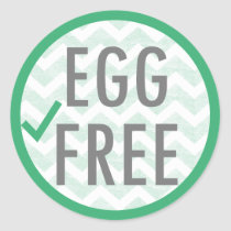 Egg Free Food Allergy Alert Stickers