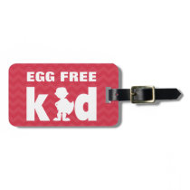 Egg Free Kid Alert Tag with Boy Super Hero