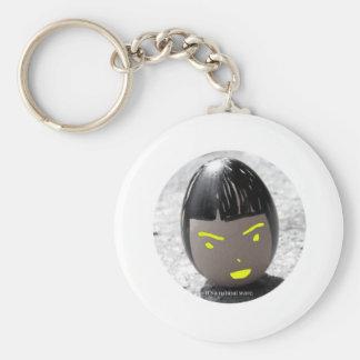 egg girl basic round button keychain