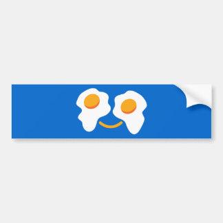 Egg happy face bumper sticker