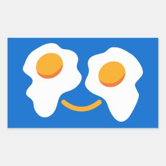 Egg happy face rectangular sticker