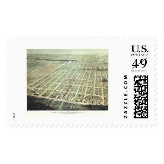 Egg Harbor City, NJ Panoramic Map - 1865 Postage Stamp