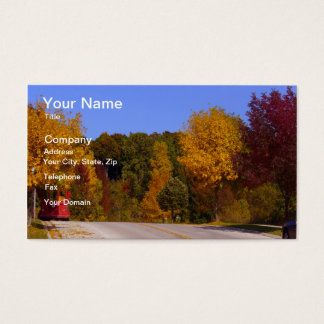 Egg Harbor, WI Fall Season with Trolley Car Business Card