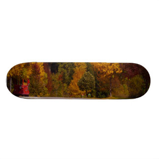 Egg Harbor, WI Fall Season with Trolley Car Skateboard Deck