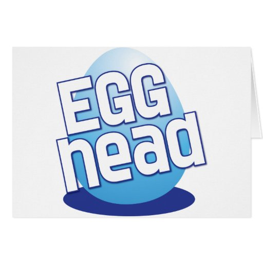 egg head easter bald funny greeting card