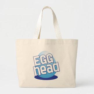 egg head easter bald funny large tote bag