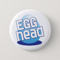 egg head easter bald funny pinback button