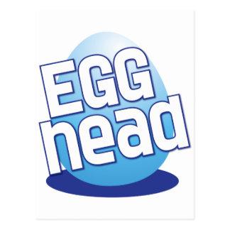 egg head easter bald funny postcard