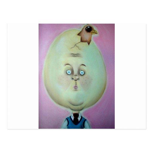 egg head post cards