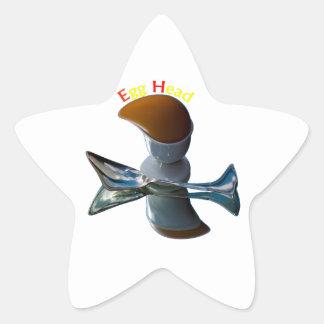 Egg Head Quirky Designs Star Sticker