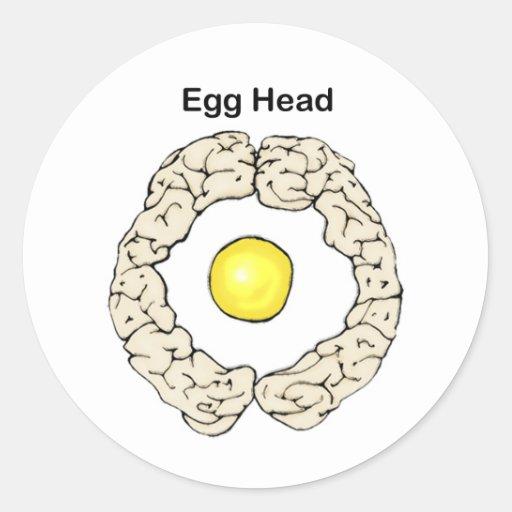 Egg Head Sticker