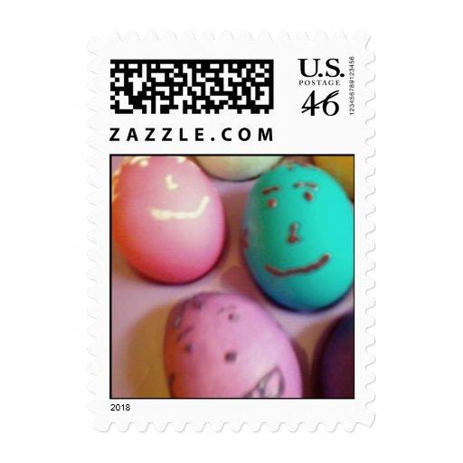 Egg heads stamp