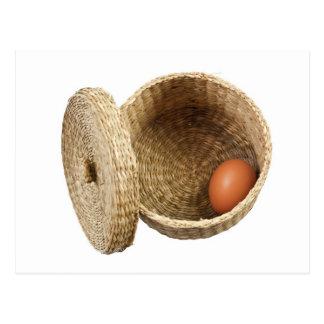 Egg in basket postcard