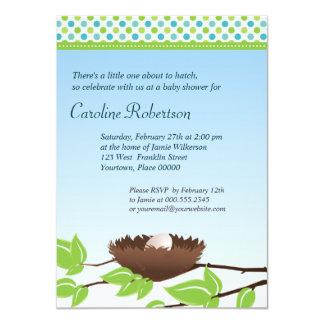 Egg in Birds Nest Baby Shower Invitation