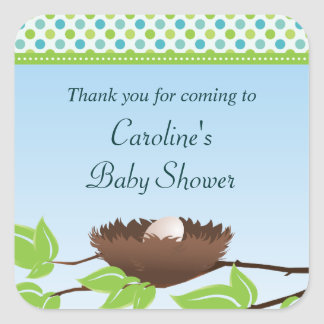 Egg in Birds Nest Baby Shower Thank You Sticker