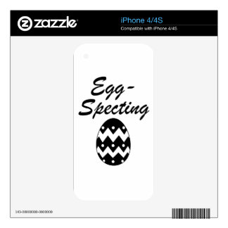 egg iPhone 4S decal