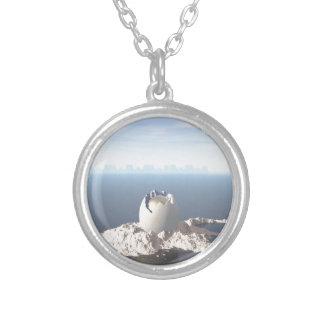 Egg Island Round Pendant Necklace