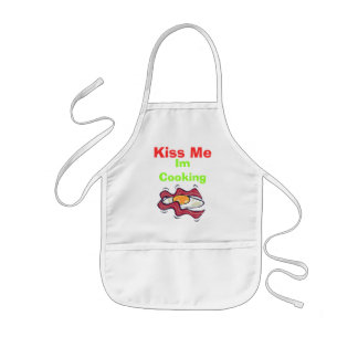 Egg, Kiss Me , Im Cooking Kids' Apron