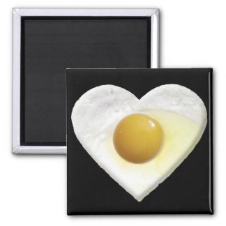 Egg LOVE 2 Inch Square Magnet