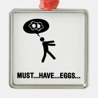 Egg Lover Metal Ornament