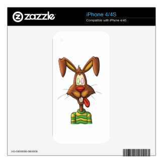 egg mad easter bunny funny cartoon drawing iPhone 4S skins